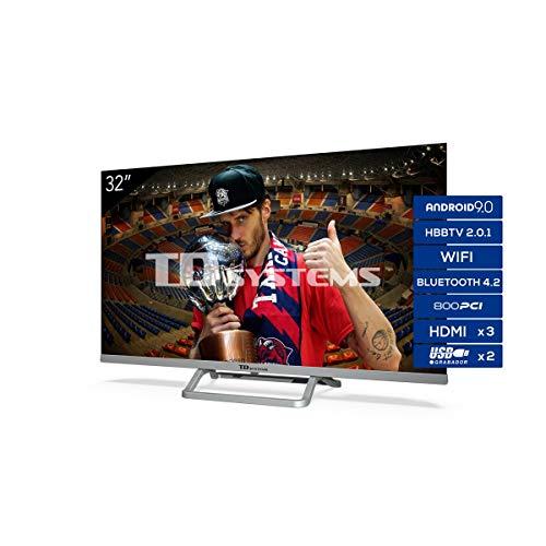 Oferta de TD Systems Televisor Smart TV Android 9.0 y HBBTV, 800 PCI Hz, 3X HDMI, 2X USB. DVB-T2/C/S2, Modo Hotel - K32DLX11HS [Clase de eficiencia energética A+] 32 Pulgadas