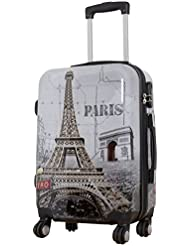 Koffer Paris Größe M Polycarbonat Hartschale Reisekoffer Trolley Case Bowatex