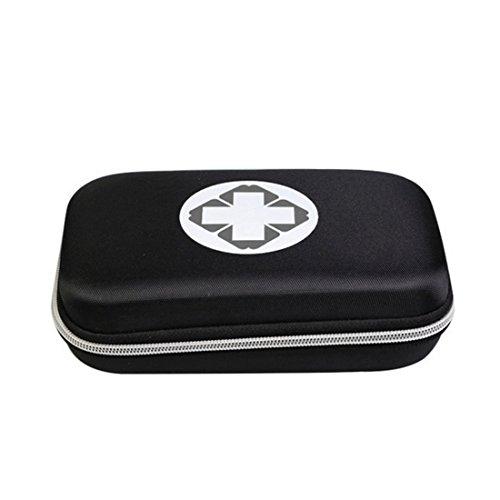Erste Hilfe Set,Lifesport Erste-Hilfe-Koffer First Aid Kit Notfalltasche Medizinisch Tasche Klein kompakt Perfekt Design für Haus Auto Camping Jagd Reisen Natur und Sport (Schwarz) (Notfall-tasche)