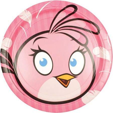 8 Pink Bird (Angry Birds) Party Teller / Pappteller Kindergeburtstag (Angry Birds Teller)