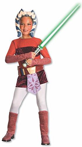 Kostüm Ahsoka - Rubie's Ahsoka Kostüm Deluxe Clone Wars Kinder