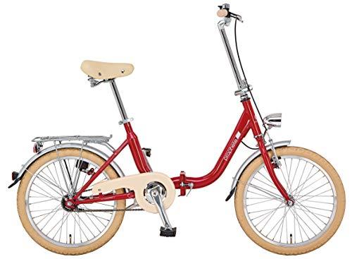 """Prophete Unisex- Erwachsene GENIESSER 9.0 City Bike 20\"""" Cityfahrrad, rot, RH 35 cm"""