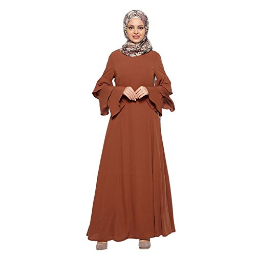 Haodasi Muslim Malaysia Frauen Lange Ärmel Kaftan islamisch Middle East Arab Turkey Bekleidung Maxi...