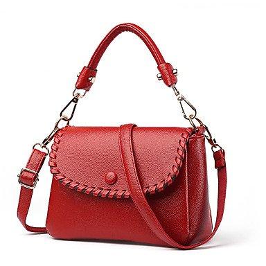 Damenmode PU Leder Messenger Schulter Mini Taschen / Handtaschen Klt Wine