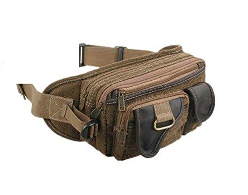 Gürteltasche in 3 Farben Hüfttasche Bauchtasche Angeltasche Schultertasche Jogging Tasche (braun) braun