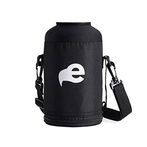 eegl Tragetasche für Wasserflasche, für Hydroflask und andere Marken (Flasche Nicht im Lieferumfang enthalten), Nylon-Hülle mit Schulterriemen (Beer Growler 64)