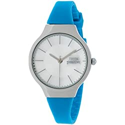 Ladies' THINK POSITIVE® Model SE W31 Classic Steel Strap Of Silicone Color Light Blue