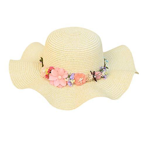 Frauen Strand Strohhut Jazz Sonnenschutz Panama Trilby Fedora Hat Wreath Hut ()