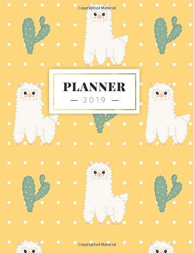 Planner 2019: Semanal Diario Organizador Calendario | Alpaca y Cactus: Volume 4 (Agenda Espanol)