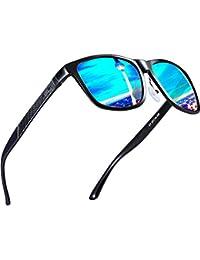 ATTCL Hombre Wayfarer Gafas de sol Polarizado Al-Mg Metal Super Ligero Marco