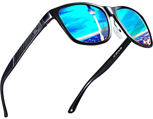 ATTCL Unisex Wayfarer Stil Polarisierte Fahren Sonnenbrille Herren Damen 18587blue