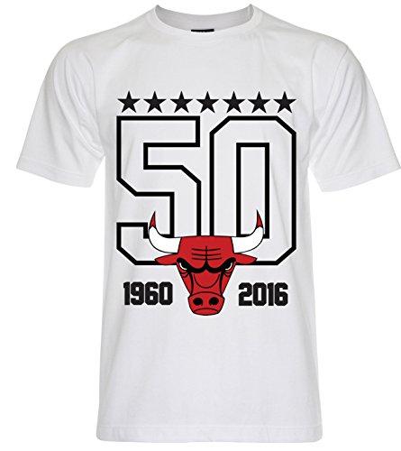 PALLAS Men's Chicago Bulls Basketball Sport T-Shirt White