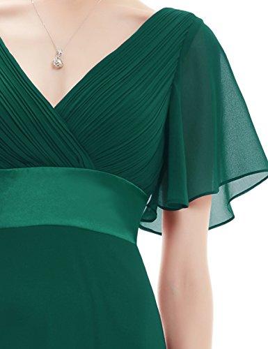 Ever Pretty Robe de soirée en double V-col et manches courtes 09890 Vert