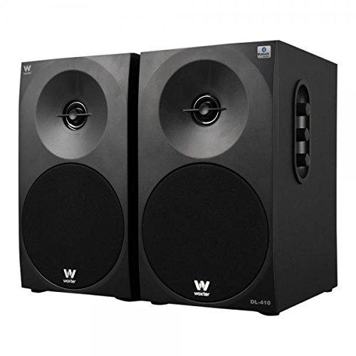 Woxter Dynamic Line DL-410 BT - Altavoces Multimedia 2.0 Bluetooth(Potencia 150W, en Madera, conexión 3'5 mm, Control de Sonido en Panel Lateral), Negro