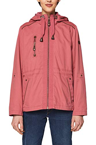edc by ESPRIT Damen Parka 029CC1G001 Rot (Cherry RED 615), Large