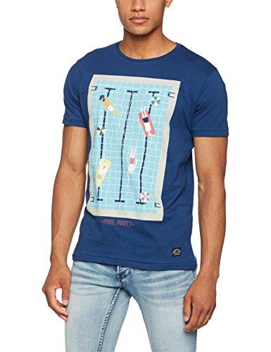 Springfield Herren T-Shirt Fe Piscina Blau (Blau)