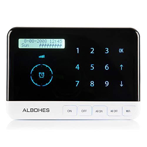 GAYBJ Intelligenter Sprinkler-Controller, Wi-Fi-Bewässerungscontroller, Fernbedienungs-Wassertimer,Black