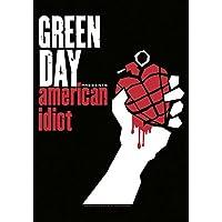 Heart Rock Licensed Bandiera Green Day - American Idiot, Tessuto, Multicolore, 110X75X0,1 cm