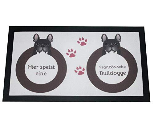 Napfunterlage Hund Franz. Bulldogge mit Name Fressunterlage für Hunde