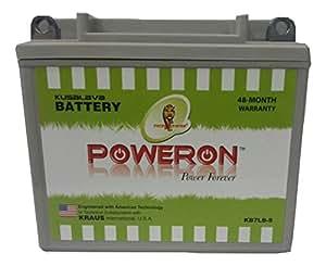 7AH Poweron Sealed Bike Battery - No Maintenance- Honda, Hero Motors, Bajaj Pulsar