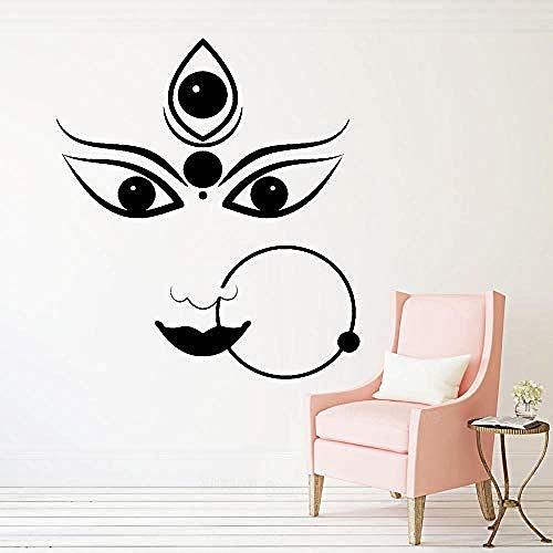Hindu Gott Vinyl Wandkunst Aufkleber Wohnzimmer Hinduismus Wandaufkleber Innen Schlafzimmer DekorWand Dekorieren abziehbilder 56x63 cm
