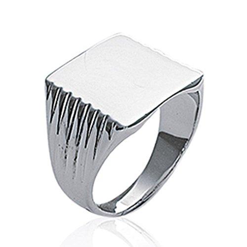 ISADY - Sasha - Herren Ring - Sterling Silber 925 - Gravur Kostenlos - Zum Gravieren (Silber Ringe Diamant-hochzeit Herren)