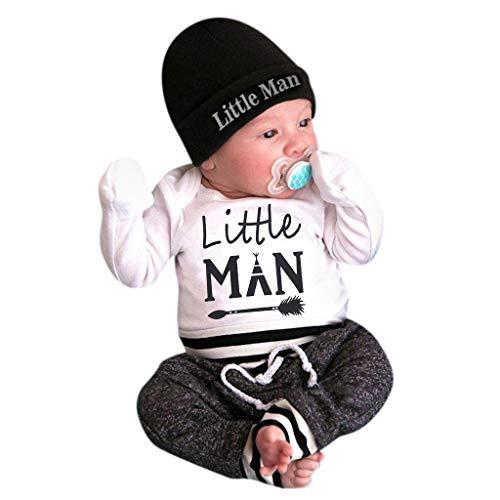Kostüm Baby Minion Tragen - Cuteelf Neugeborenes Babyjunge der Jacke der Kinder kleidet Buchstabenspringoverall + Pants + hat dreiteilige gesetzte Säuglingsalphabet Haber Hosen-Hutklage der Kleidung