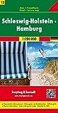 Schleswig-Holstein - Hamburg, Autokarte 1:200.000 (freytag & berndt Auto + Freizeitkarten): Toeristische wegenkaart 1:200 000 - Freytag-Berndt und Artaria KG