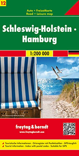 Schleswig-Holstein - Hamburg, Autokarte 1:200.000, Serie Deutschland Blatt 12: Toeristische wegenkaart 1:200 000 (freytag & berndt Auto + Freizeitkarten)