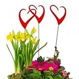Acchiappa-sole - Sun Dancer Hearts rosso (Set di 3) - Larghezza: 7 cm, altezza: 33 CM - Leggio, Stand Asta
