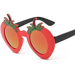 Aierwish Männliches und weibliches Kinder Neue schön Erdbeeren UV-Schutz Sonnenbrille (4)