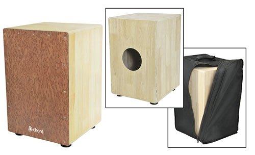 AVL44-CCAJ48F Full Sized Cajon francese in legno con borsa interna per rullante fili ideale per Busking/Unplugged concerti resistente gomma antiscivolo strumento musicale