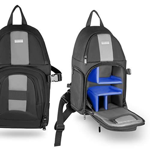 phot-r Urban Sling Professional Compact Reise Rucksack-Schwarz