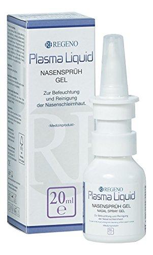 Plasma Liquid Nasen-Spray - Sprüh-Gel gegen alle keimbedingten Erkrankungen der Nase sowie bei Stirn- und Nasennebenhöhlen-Entzündung Sinusitis und bei Pollen-Allergie, Heu-Schnupfen Rhinitis