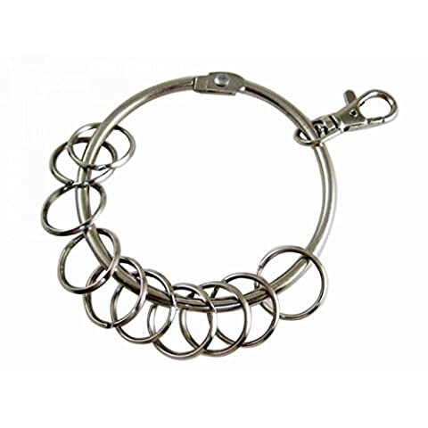 Vococal® Large Circular 10 Rings Metal Key Chain Keychain Keyring