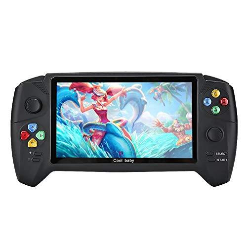 Lcme Play Station Konsolen, 7,0 Zoll PSP Dual-Joystick HD Handheld Retro Spiel-Konsole Dual-Rockers Für GBA NES FC Color Game-Spieler