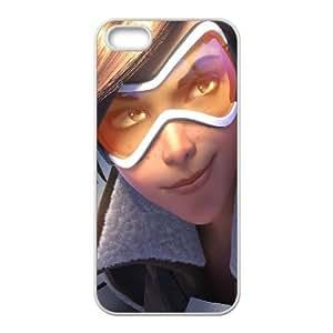 E9W02 overwatch X4E9UI coque iPhone 5 5s cellule de cas de téléphone couvercle coque blanche HY7XHP7RT