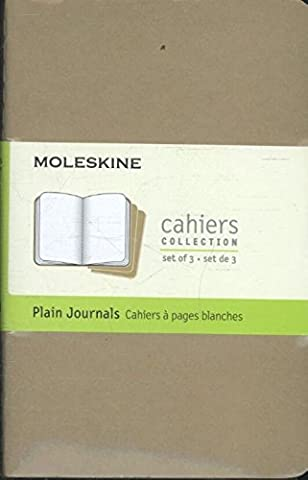 Moleskine Set de 3 cahiers pages blanches Format de poche
