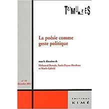 Tumultes, N° 19, Décembre 2002 : La poésie comme geste politique