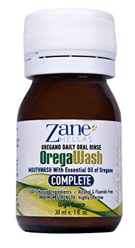 OREGAWASH oregano giornaliero collutorio orale. 100% naturale. 1 Fl. Oz. – 30ml. Senza alcol, fluor. Combatte i batteri in modo naturale. Ideale per Gengivite, Placca, Xerostomia, Alito Cattivo....