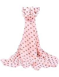 Wensltd Women Long Wrap Shawl Polka Dot Chiffon Scarf Scarves Stole (Pink)