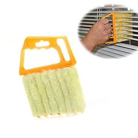 mark8shop Mini 7à main brosse pour store vénitien en microfibre fenêtre Après-shampoing Air Duster pour nettoyer la saleté