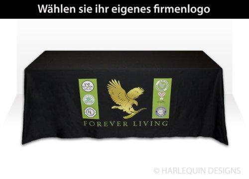 hwarze ausstellung tischdecke, 180 cm tisch, bedruckt mit ihrem logo (farbigen logo) ()