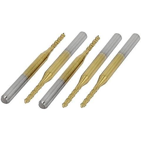 1.6mmx8.5mm nitruro de titanio recubierto de perforación PCB CNC Router Bits 5 x, Modelo:, Herramientas y ferretería