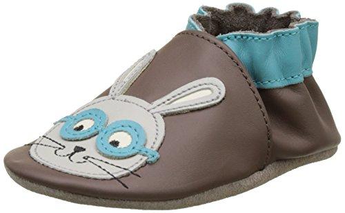Robeez Smart Rabbit, Chaussures de Naissance Bébé Garçon, Gris (Gris Foncé), 21/22 EU