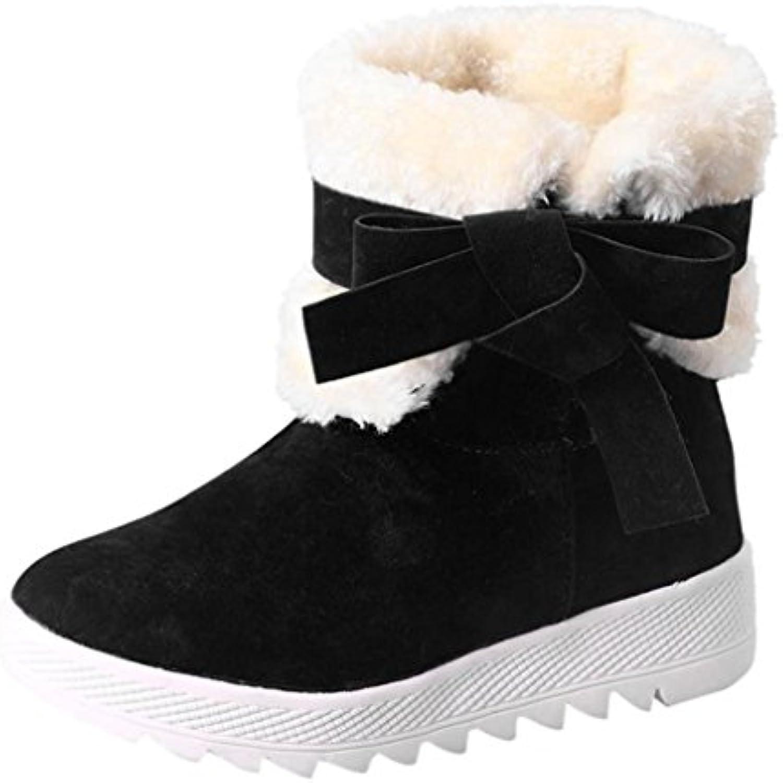 Tefamore Femmes Boots Bowknot Bottes hiver chaud Bottines Chaussures - - B075S2JYQS - Chaussures 1ec7dd