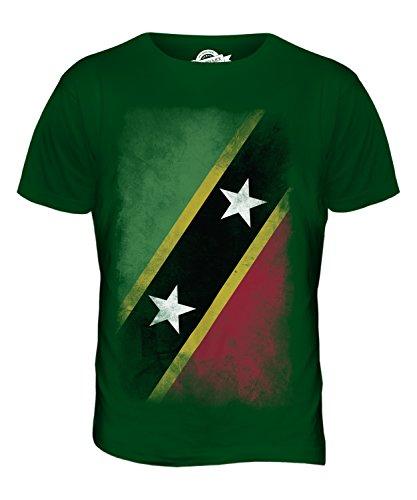 CandyMix St. Kitts Und Nevis Verblichen Flagge Herren T Shirt Flaschengrün