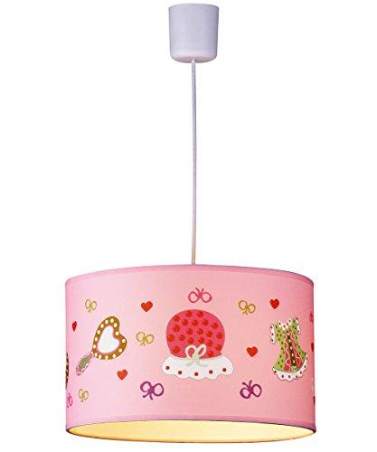 PurelumeTM Kinderlampe Pink Fashion Kinderzimmer Hängeleuchte für Mädchen (Mehrfarbig, E27 Fassung)