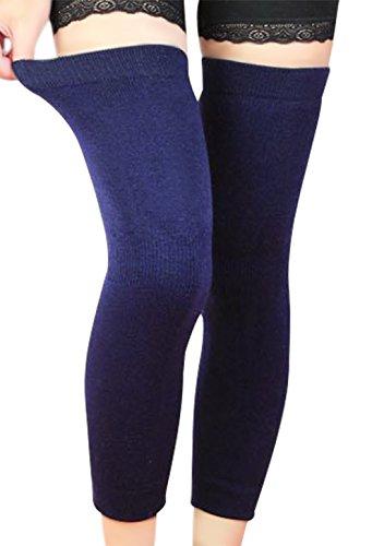 Scaldamuscoli per ginocchio da uomo e da donna, fascia elastica lunga per ginocchio, invernali, traspiranti, termici, leggings, protezione, sostegno, calze per sport