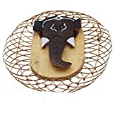 Beautiful Wooden Elephant Antique Pen Stand Perfect for Home/Office/Gifting